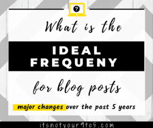 What Is the Ideal Frequency for Blog Posts?