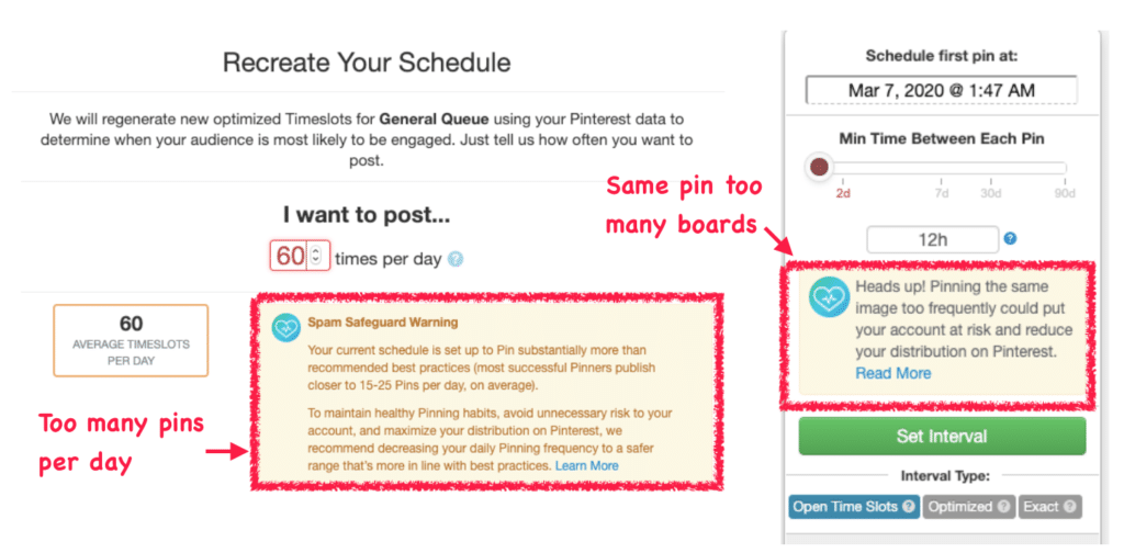 Tailwind SmartGuide for PInterest traffic