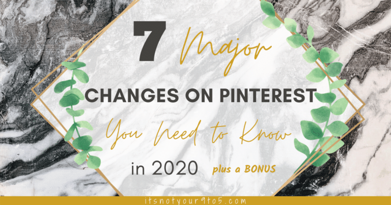 changes on Pinterest