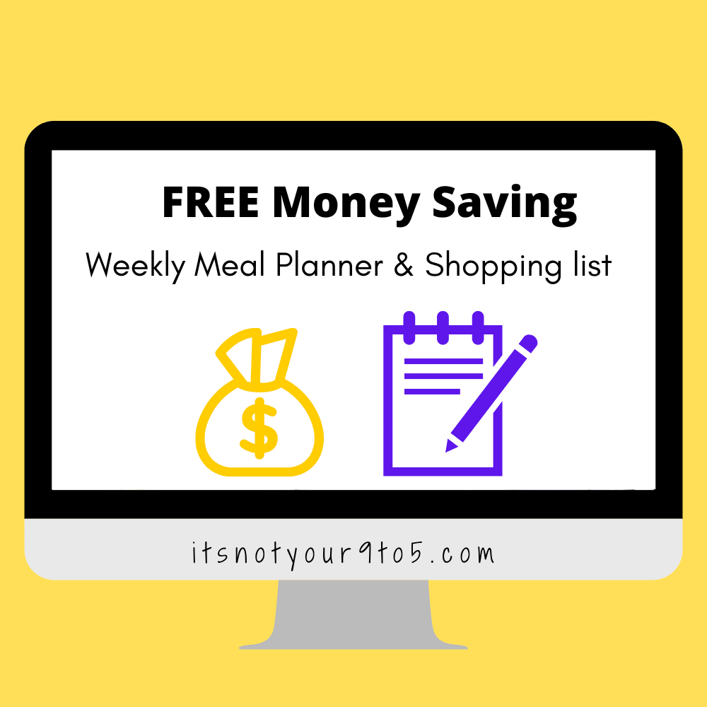 weekly meal planner & shopping list