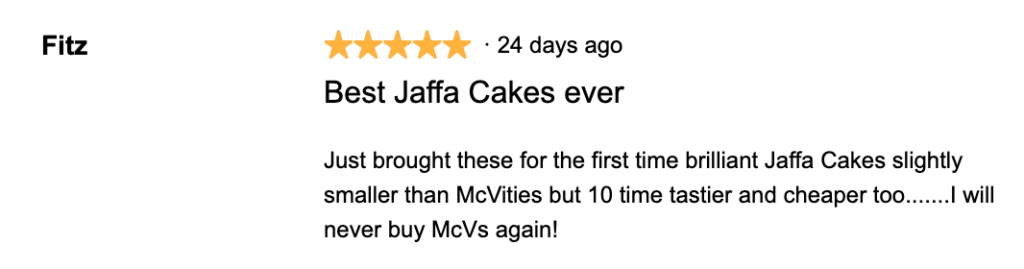 Things to buy from Aldi - Jaffa Cake