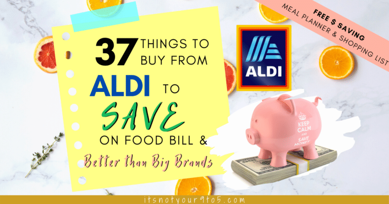 Things to buy from Aldi to save on food bill