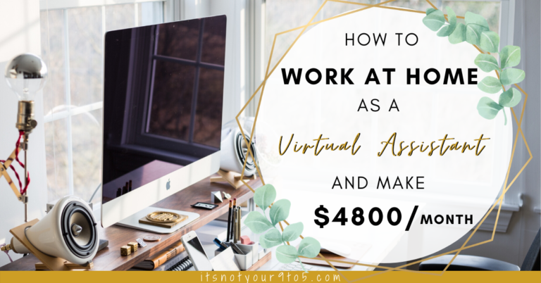 Work at home as a virtual assistant