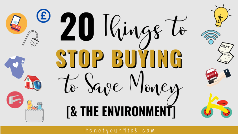 20 Things to stop buying to save money FB
