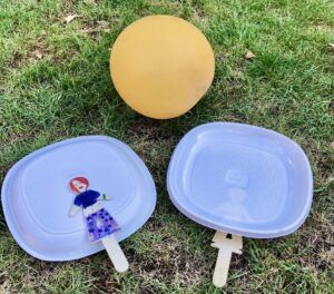 Free activities with kids - pingpong balloon
