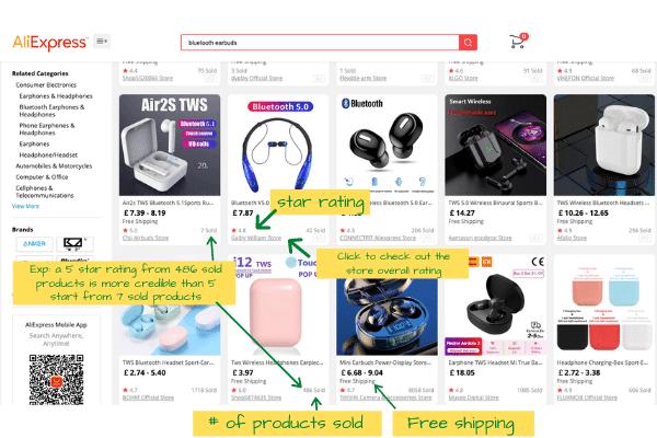 Aliexpress UK site