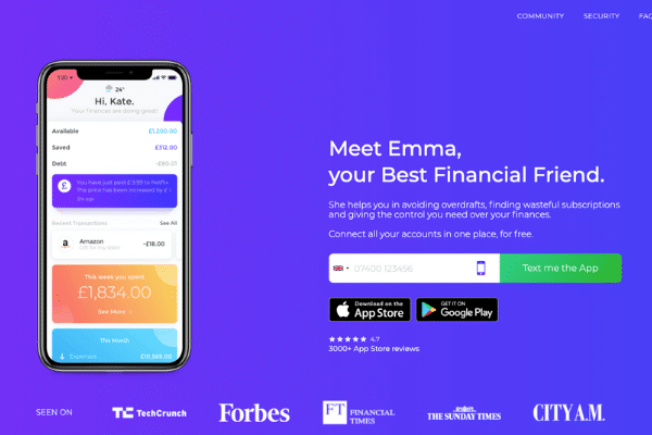 The best Free budgeting app - emma app review