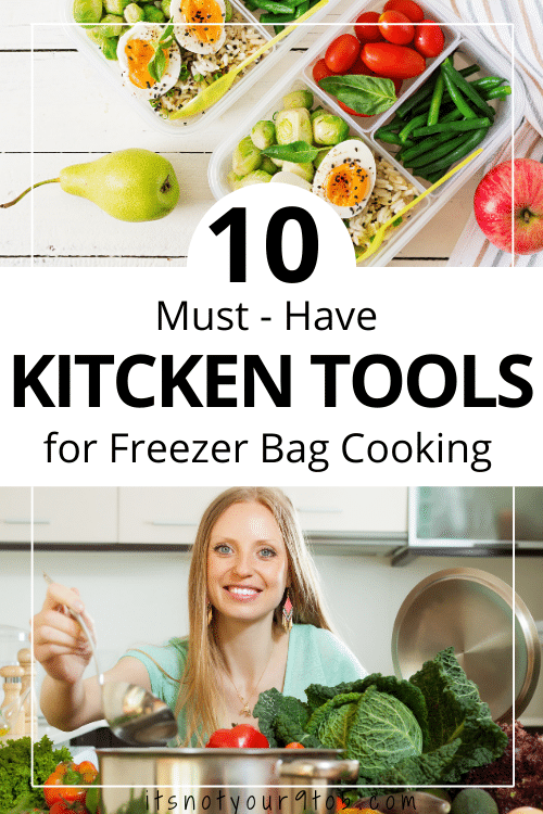Tools for freezer bag cooking