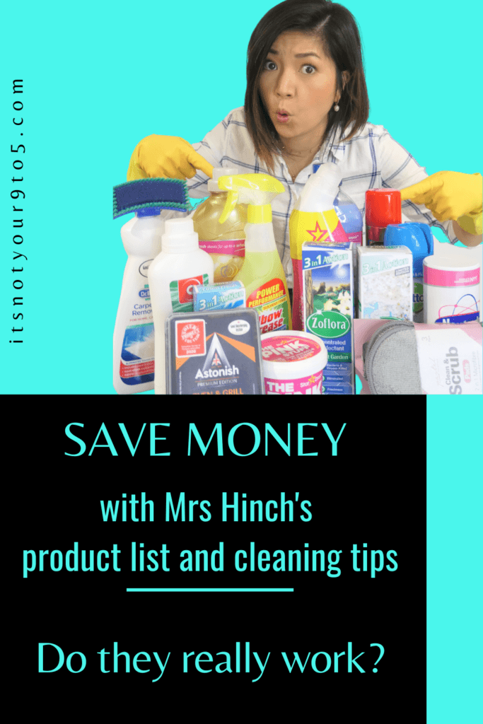 Mrs Hinch's product list and cleaning tips