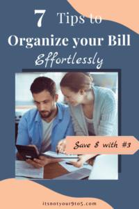 7 tips to organize bills